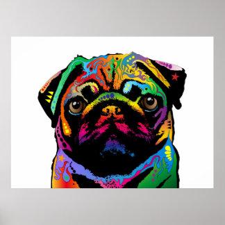 Cão do Pug Poster