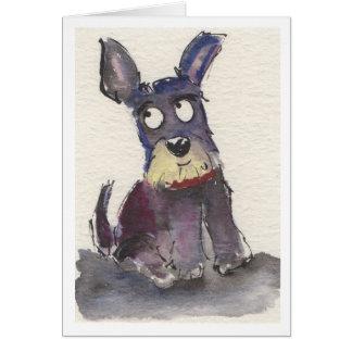 Cão do Schnauzer Cartão
