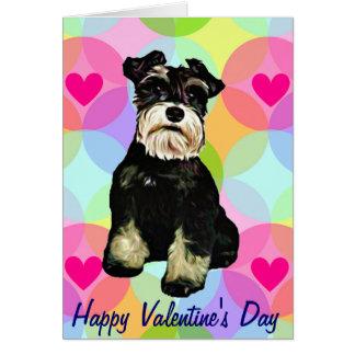Cão do Schnauzer dos namorados Cartão