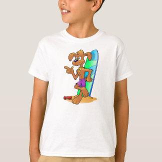 Cão do surfista camiseta