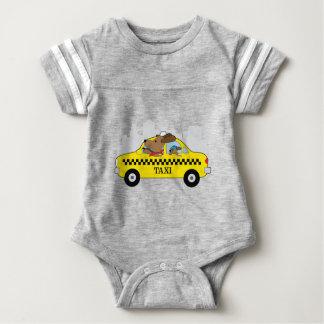 Cão do táxi de New York Body Para Bebê