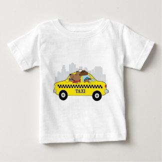 Cão do táxi de New York Camiseta Para Bebê