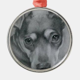 Cão doce ornamento de metal