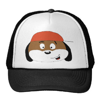 Cão dos desenhos animados com boné de beisebol