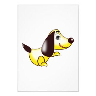 Cão dos desenhos animados convite