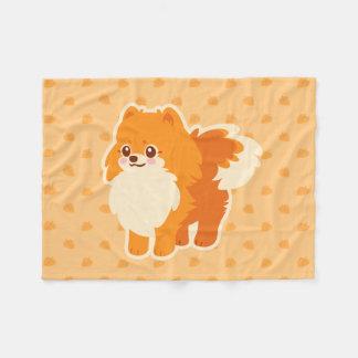 Cão dos desenhos animados de Kawaii Pomeranian Cobertor De Velo
