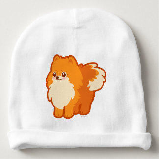 Cão dos desenhos animados de Kawaii Pomeranian Gorro Para Bebê