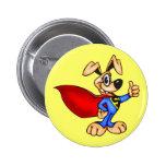 Cão dos desenhos animados do super-herói botons