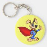 Cão dos desenhos animados do super-herói chaveiro