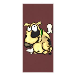 Cão e osso de filhote de cachorro panfleto informativo