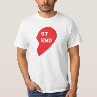 Cão e ser humano de harmonização do melhor amigo camiseta