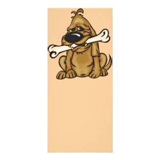 Cão e seu osso 10.16 x 22.86cm panfleto