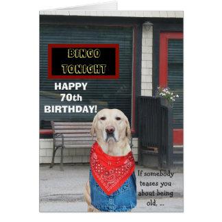 Cão engraçado customizável do veterano cartão