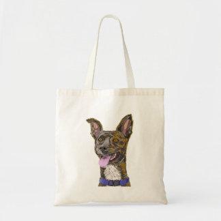 Cão esboçado colorido de vista engraçado com orelh bolsa para compra