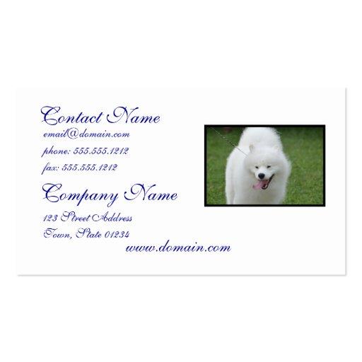 Cão Eskimo americano bonito Cartões De Visita