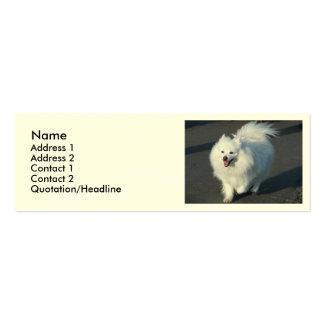 Cão Eskimo americano Cartão De Visita Skinny