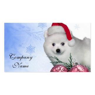 Cão Eskimo americano do Natal Cartão De Visita