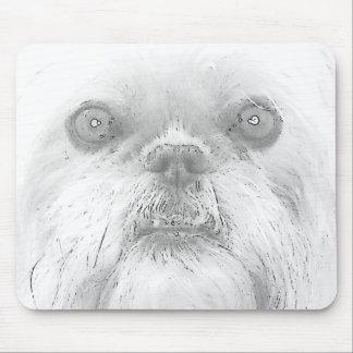 """Cão """"Ewok """" de Mousepad Bruxelas Griffon"""