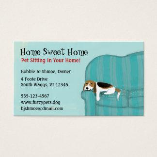 Cão feliz do sofá cartão de visitas