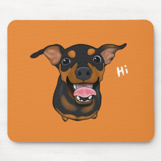 Cão feliz Mousepad do Pinscher diminuto do Pin do