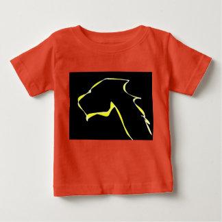 Cão fino da chama do jérsei do bebê camiseta para bebê