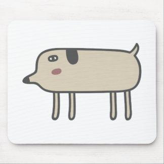 Cão magro mouse pad