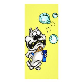 Cão minúsculo das bolhas panfleto informativo