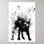 cão molhado impressão