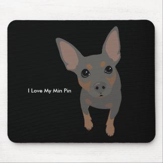Cão Mousepad do Pinscher diminuto (azul)