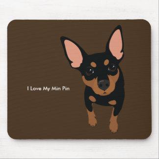 Cão Mousepad do Pinscher diminuto (Tan preto)
