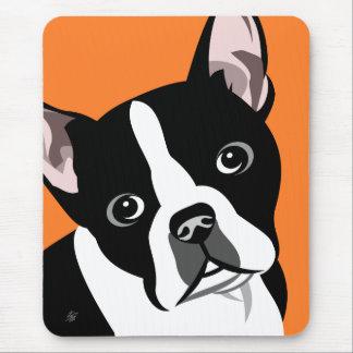 Cão Mousepads de Boston Terrier