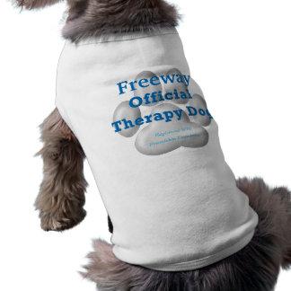 Cão oficial v2 da terapia camisa sem mangas para cachorro