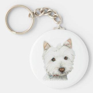 Cão Pastel de Westie Chaveiro
