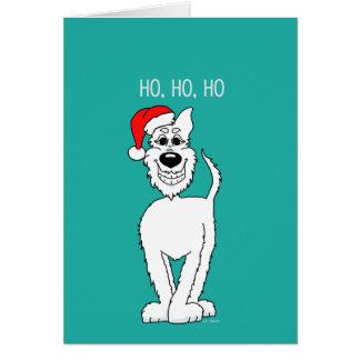 Cão pastor branco Santa Cartão Comemorativo