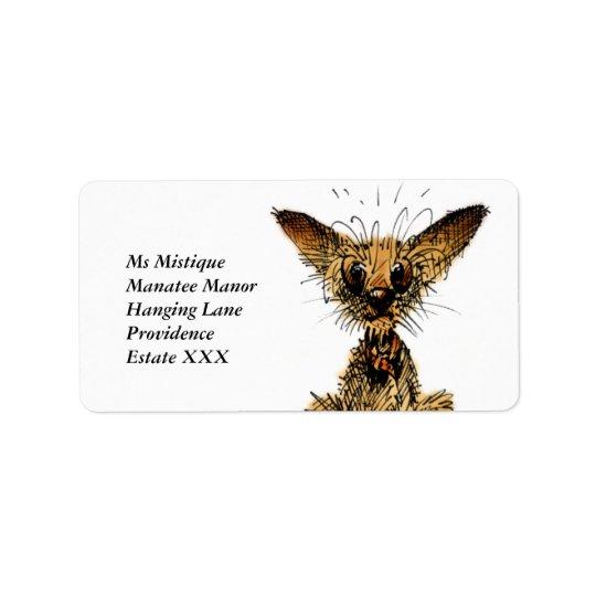 Cão pequeno bonito etiqueta de endereço