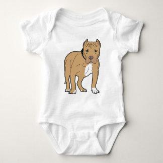 Cão personalizado de Pitbull do americano Body Para Bebê