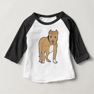 Cão personalizado de Pitbull do americano Camiseta Para Bebê