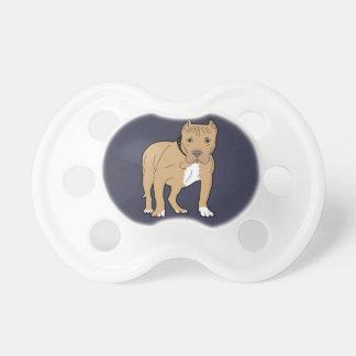 Cão personalizado de Pitbull do americano Chupeta