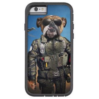 Cão piloto, buldogue engraçado, buldogue capa iPhone 6 tough xtreme