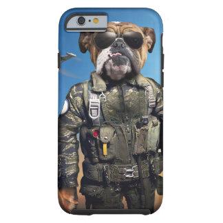 Cão piloto, buldogue engraçado, buldogue capa tough para iPhone 6