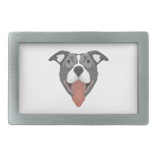 Cão Pitbull de sorriso da ilustração