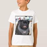 Cão preto do Pug T-shirts