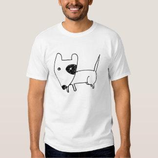 Cão preto e branco dos desenhos animados bonitos t-shirt