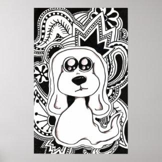Cão psicadélico poster