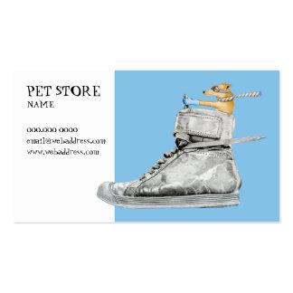 Cão que conduz um cartão de visita dos calçados