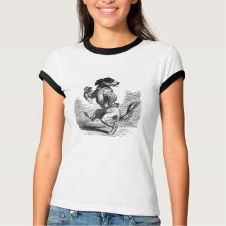 """""""Cão que dança ilustração do vintage de um Tshirt"""