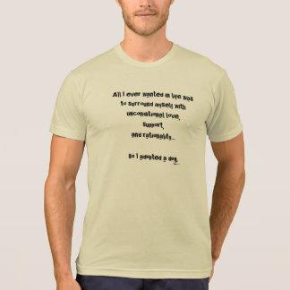 Cão racional camiseta