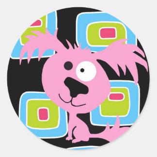 Cão retro cor-de-rosa de Bubblegum Adesivo
