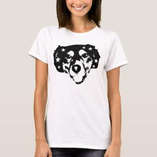 cão rockstar camiseta