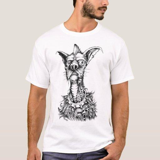 Cão rude camiseta